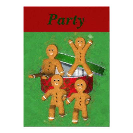 Convite do feriado do Natal dos homens de pão-de-e