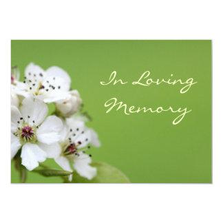 Convite do funeral da cerimonia comemorativa da convite 12.7 x 17.78cm