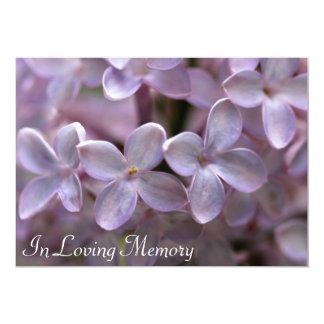 Convite do funeral da cerimonia comemorativa do convite 12.7 x 17.78cm