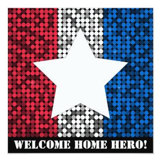 """""""Convite do herói Home bem-vindo"""" Convite Quadrado 13.35 X 13.35cm"""