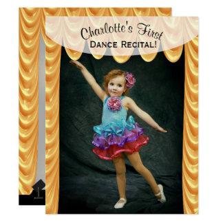 Convite do modelo da foto do considerando da dança