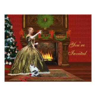 Convite do Natal, casa do feriado do vintage