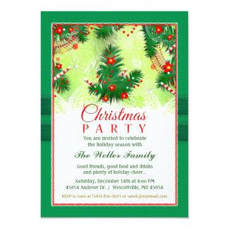Convite do Natal - partido festivo vermelho &