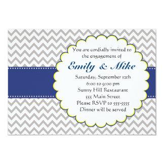Convite do noivado do amarelo dos azuis marinhos