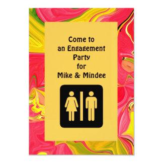 convite do noivado do divertimento