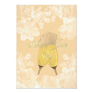 Convite do noivado do girassol do Gardenia do