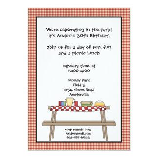 Convite do piquenique