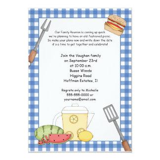Convite do piquenique da reunião de família