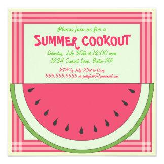 Convite do piquenique do Cookout da melancia