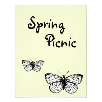 Convite do piquenique do primavera da borboleta de
