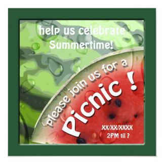 Convite do piquenique do verão da melancia