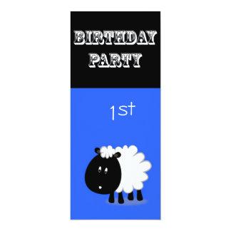 Convite do primeiro aniversario - carneiro pequeno