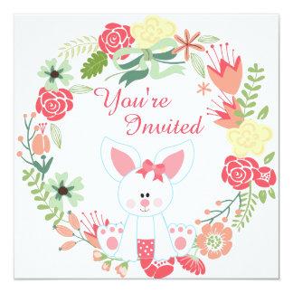 Convite do primeiro aniversario do coelho e da