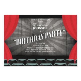 Convite do teatro da festa de aniversário da noite