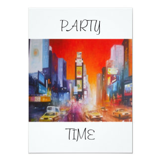 Convite do tempo do partido de América do Times