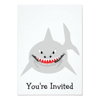 Convite do tubarão para alguma ocasião