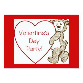 Convite do urso do dia dos namorados