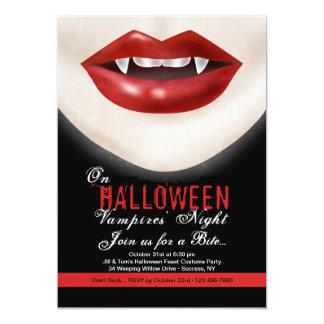 Convite do vampiro do Dia das Bruxas