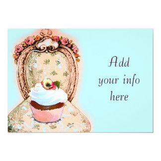 Convite do Victorian do cupcake do tea party