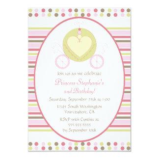 Convite doce do aniversário do partido da princesa