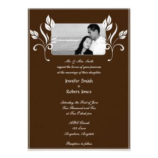 Convite dos beijos de chocolate