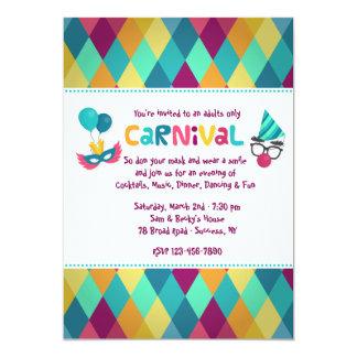 Convite dos diamantes do carnaval