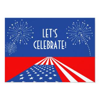 Convite dos EUA/convite bandeira americana -