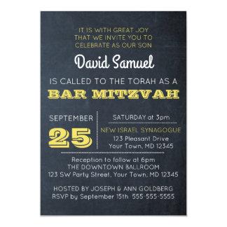Convite dourado de Mitzvah do bar do quadro