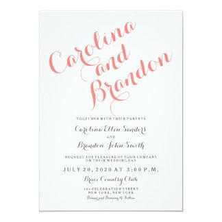 Convite elegante clássico do casamento do roteiro