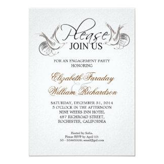 convite elegante da festa de noivado