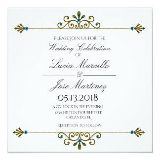 Convite elegante do casamento da caligrafia da