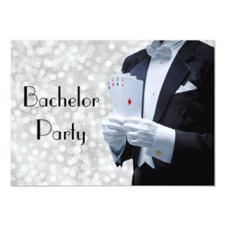 Convite elegante do despedida de solteiro com convite 12.7 x 17.78cm