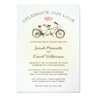 Convite em tandem do casamento da bicicleta