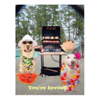 Convite engraçado customizável do CHURRASCO Cartão Postal