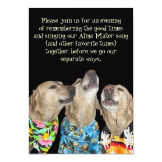 Convite engraçado da festa de formatura do cão