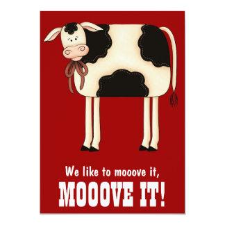Convite engraçado da festa de solteira da vaca da