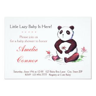 Convite engraçado do chá de fraldas da panda