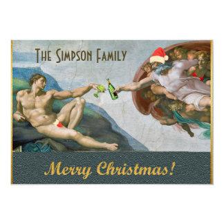 Convite engraçado do Natal de Michelangelo do