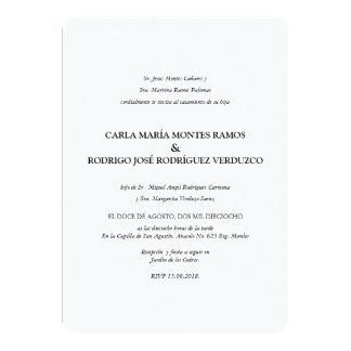 Convite espanhol clássico simples do casamento