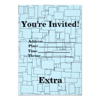 Convite esquadrado azul do aniversário