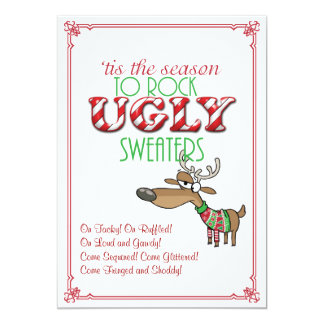 Convite feio da festa natalícia das camisolas da
