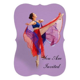 Convite, festa de aniversário, bailarina