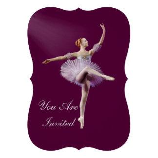 Convite festa de aniversário bailarina