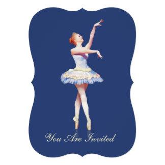 Convite, festa de aniversário, bailarina em Pointe