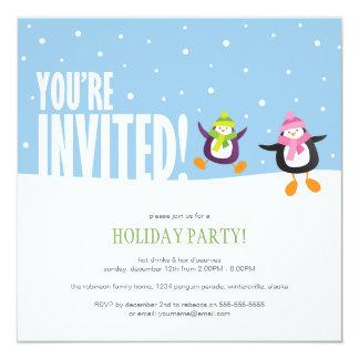 Convite festivo bonito da festa natalícia do