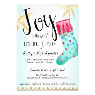 Convite festivo da festa natalícia da meia & das