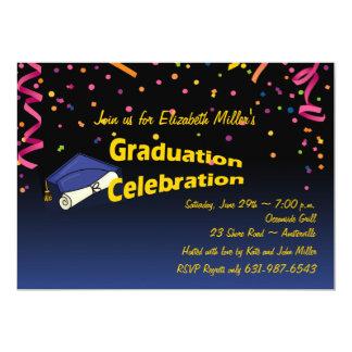 Convite festivo da graduação
