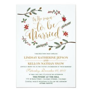 Convite festivo do casamento do Natal do feriado