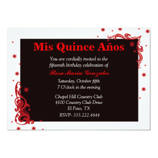 Convite festivo preto, vermelho, & branco de