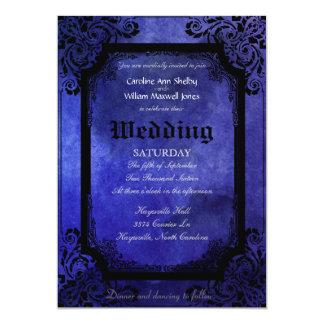 Convite filigrana do casamento do Grunge gótico